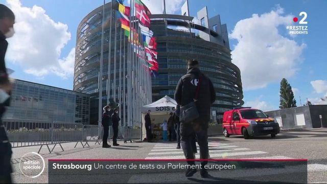 Strasbourg : pendant le déconfinement, le Parlement européen devient un centre de dépistage