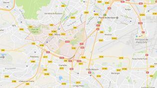 Capture écran Google Maps de la ville de Massy (Essonne). (GOOGLE MAPS)