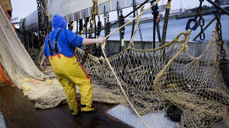 Les pêcheurs néerlandais sontles plus grands adeptes dela pêche électrique: 28% de la flotte en est équipée au lieu des 5% autorisés par dérogation (Niels Wenstedt / ANP / AFP)
