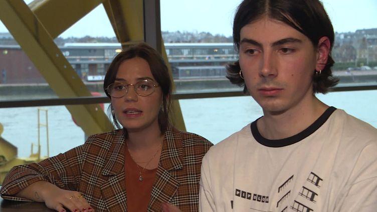 Rachel Geffroy et Simon Vouland, les deux compères de Dahlia sélectionnés pour les iNOUïS du Printemps de Bourges. (France 3 Normandie / B. Belamri)