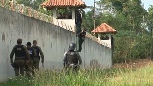 Dans une prison d'Altamira, dans l'État du Para (Brésil), 57 détenus ont été tués dans une mutinerie, le 29 juillet. (CAPTURE ECRAN FRANCE 2)