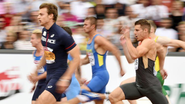 Comme Vicaut, Lemaitre a facilement remporté sa série (FABRICE COFFRINI / AFP)