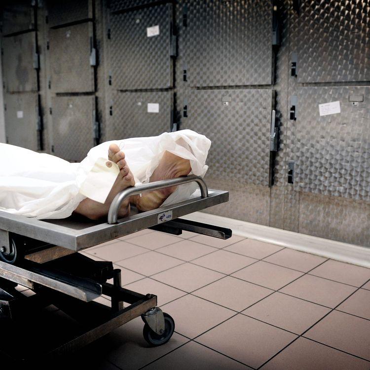 La morgue des pompes funèbres intercommunales de l'agglomération lyonnaise (Rhône), le 3 juillet 2012. (MAXPPP)