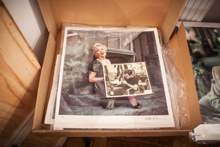 Photo de Marylin Monroe prise par Milton Greene, en vue de l'exposition organisée en Pologne en 2012  (WOJTEK RADWANSKI / AFP)