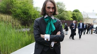 Cédric Villani, à Paris, le 13 mai 2017. (CHARLY TRIBALLEAU / AFP)