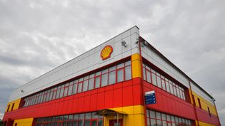 Des locaux de Shell à Torzhok (Russie), le 26 mai 2021. (ALEXEY KUDENKO / SPUTNIK / AFP)