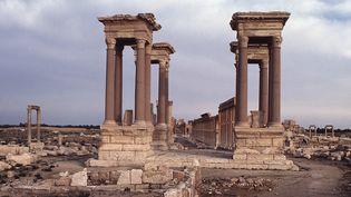 Palmyre : le tétrapyle, un monument de 16 colonnes datant de la fin du 3e siècle, aurait été détruit par l'EI  (Leemage / AFP)