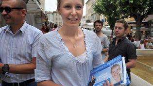 Marion Marechal-Le Pen, candidate Front National aux élections législatives, le 8 juin 2012 à Carpentras (Vaucluse). (GERARD JULIEN / AFP)