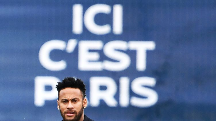 Neymar, le 17 août 2019 à Saint-Germain-en-Laye. (FRANCK FIFE / AFP)