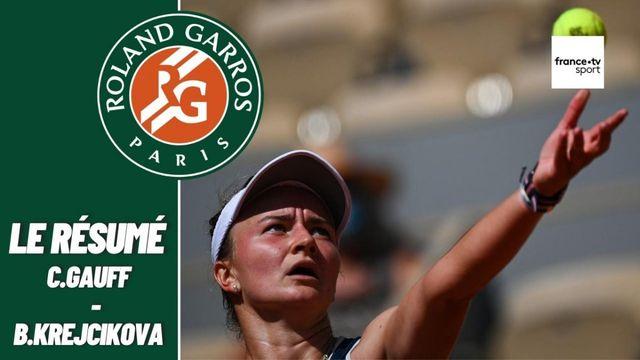 Les meilleurs moments du match Coco Gauff - Barbora Krejcikova