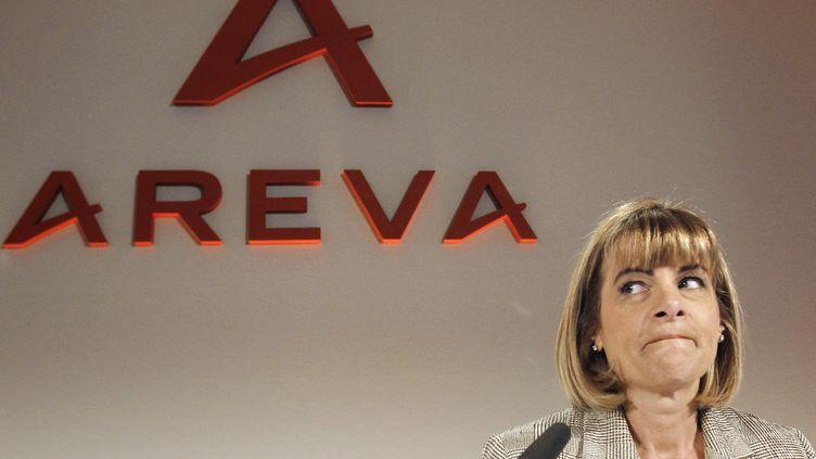 Anne Lauvergeon, ancienne patronne d'Areva, lors d'une conférence de presse en 2010 à Paris. (JOEL SAGET / AFP)