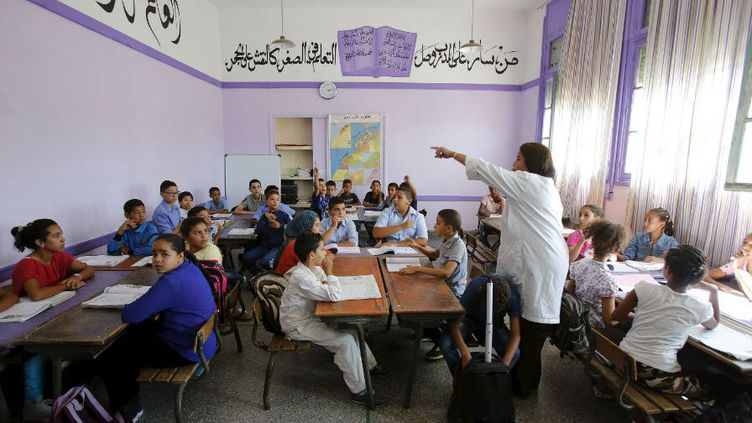 Une classe de l'école Oudaya à Rabat, le 15 septembre 2015. (REUTERS- Youssef Boudlal)
