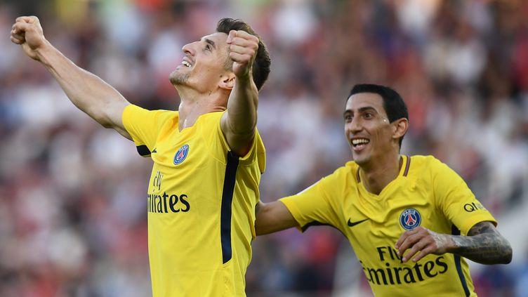 Thomas Meunier a marqué son deuxième but de la saison. (FRANCK FIFE / AFP)