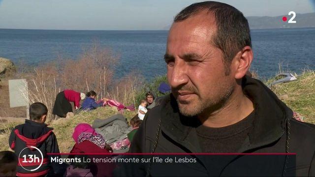 Migrants : la tension monte sur l'île grecque de Lesbos