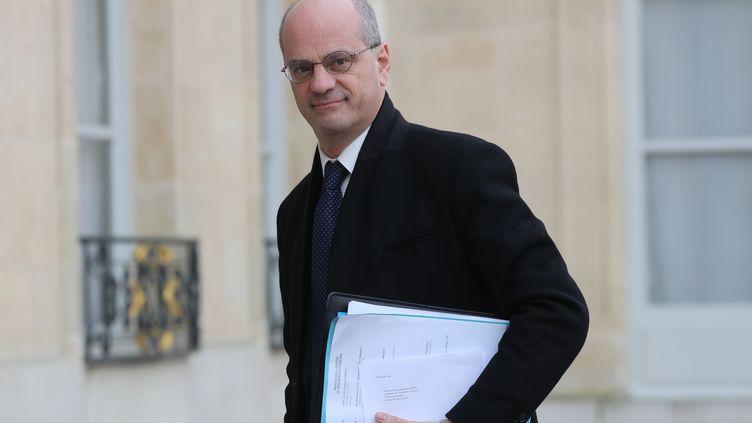 Le ministre de l'Éducation nationale, Jean-Michel Blanquer, à l'Élysée le 15 janvier 2020 (photo d'illustration). (LUDOVIC MARIN / AFP)