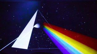 """A l'exposition """"Pink Floyd, Their Mortal Remains"""" à Londres, une salle est consacrée à l'album """"The Dark Side of The Moon"""" de 1973.  (Richard Young/REX/Shutterstock/Sipa)"""
