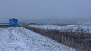 Un route dans l'Orne, le 15 janvier 2016. (France 3 Normandie)