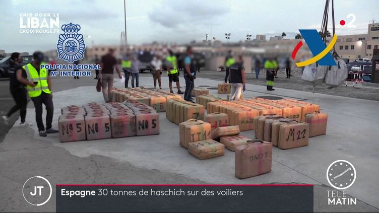 La saisie record réalisée par les services de l'Etat espagnol. (France 2)