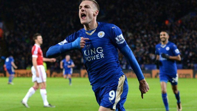 Jamie Vardy, l'attaquant de Leicester (OLI SCARFF / AFP)