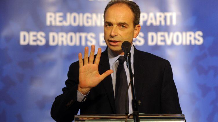 Jean-Francois Copé lors d'une réunion publique à Nancy (Meurthe-et-Moselle), le 2 décembre 2012. (POL EMILE / SIPA)
