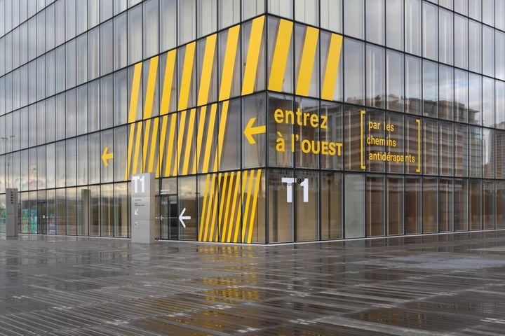 Entrée de la Bibliothèque Nationale de France (Dominique Perrault, 1989-1996), le 20 octobre 2020 (MANUEL COHEN / MANUEL COHEN)