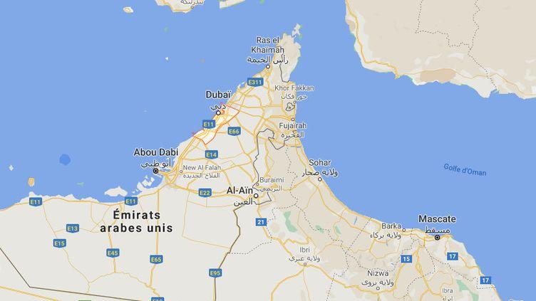 Un incendie a éclaté dans le principal port de Dubaï (Emirats-Arabes-Unis), le 7 juillet 2021. (GOOGLE MAPS)