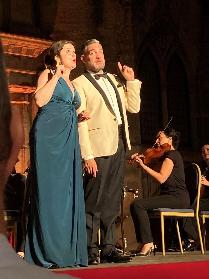 OlgaPudova, soprano etArmandoNoguerabaryton, Nuits musicales, Cour du Duché, 21 juillet 2021 (Laurence Houot / FRANCEINFO CULTURE)
