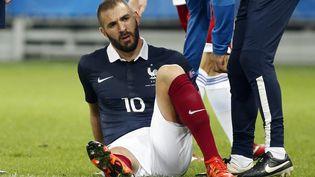 Karim Benzema lors du match amical entre la France et l'Arménie, le 8 octobre 2015 à Nice (Alpes-Maritimes). (ERIC GAILLARD / REUTERS)
