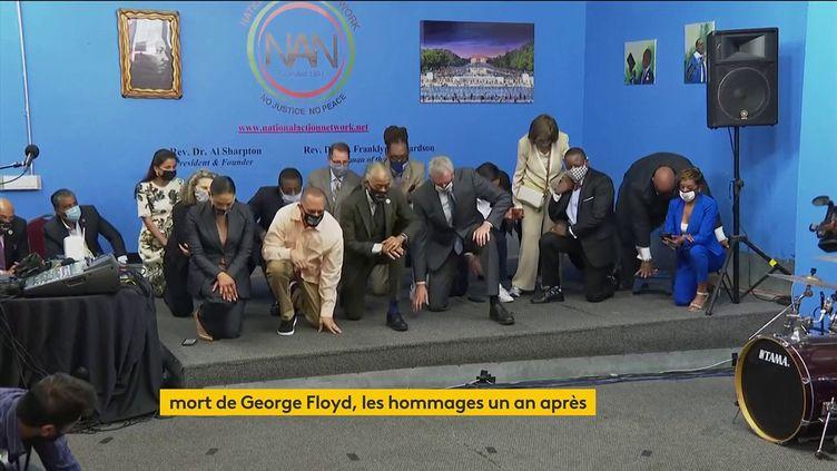Hommage à George Floyd à New York un an après sa mort (franceinfo)