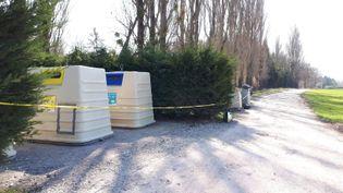 L'endroit où le corps de la victime a été retrouvé jeudi 21 mars, à Ballaison. (VIRGINIE BORLET / MAXPPP)