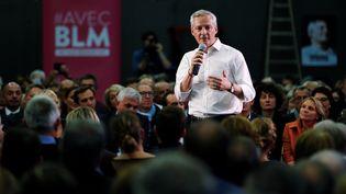 """Bruno Le Maireest convaincu qu'il peut """"bousculer le jeu"""" politique. Parviendra-t-il à créer la surprise ? (CHARLY TRIBALLEAU / AFP)"""