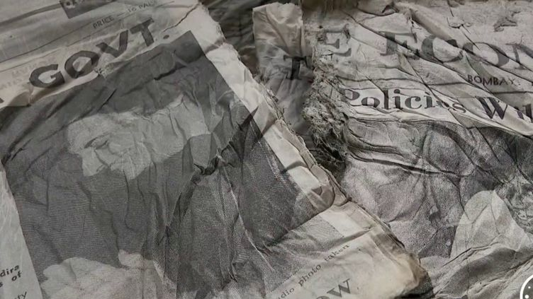 Haute-Savoie : des journaux indiens, vestiges du crash d'Air India, retrouvés intacts (FRANCE 2)