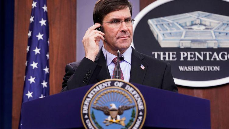 Le Secrétaire américain à la Défense Mark Esper envisage de réduire la présence des forces américaines en Afrique, ce qui inquiète la France engagée militairement au Sahel. Washington, le 14 janvier 2020. (JOSHUA ROBERTS / X01909)
