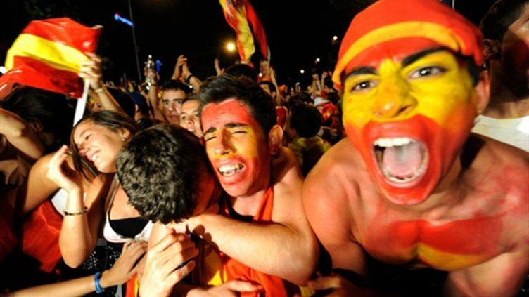 Les Espagnols en fête (DANI POZO / AFP)