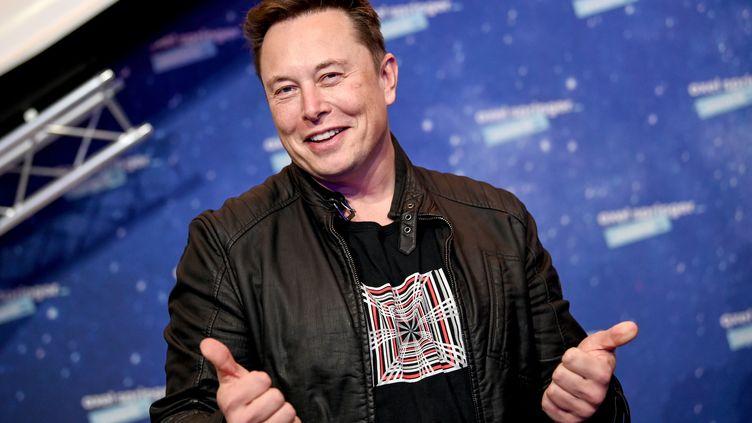 Le patron de Tesla et fondateur de Space X, Elon Musk, lors des Axel Springer Awards à Berlin (Allemagne), le 1er décembre 2020. (BRITTA PEDERSEN / AFP)