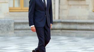 Le président de la République, Emmanuel Macron, le 12 septembre 2018 auchâteau de Versailles (Yvelines). (MUSTAFA YALCIN / ANADOLU AGENCY / AFP)