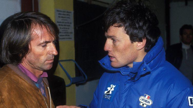 Andrea de Cesaris, ici lors de son passage chez Ligier en 1985, avec Jacques Laffite