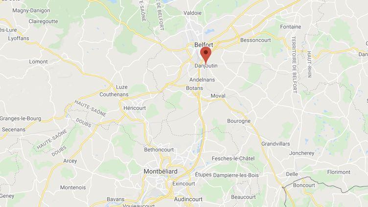 La victime de 36 ans avait été secourue dans une rue de Danjoutin (Territoire de Belfort) par des voisins. (GOOGLE MAPS)