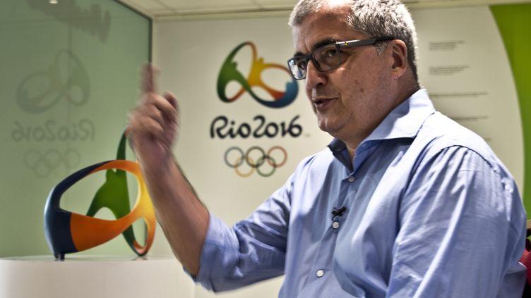 Mario Andrada, directeur  de la communication de Rio-2016. (VANDERLEI ALMEIDA / AFP)