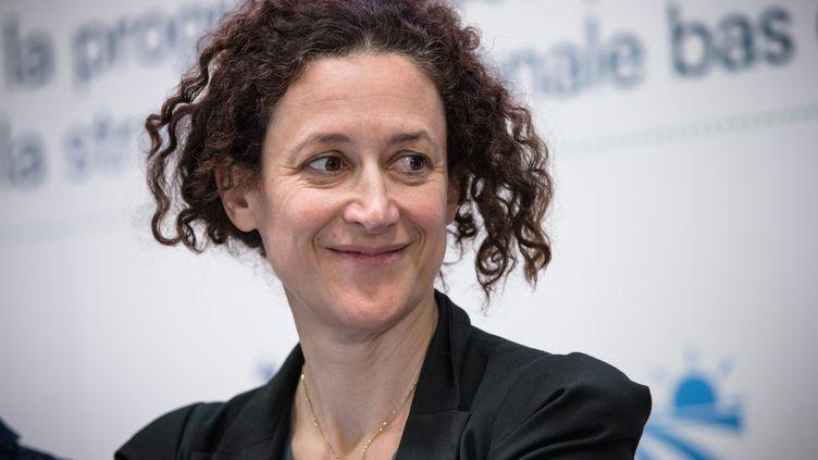 La secrétaire d'Etat auprès du ministre de la Transition écologique lors d'une conférence de presse à Paris, le 27 novembre 2018. (MAXPPP)