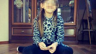 """Photo de la petite Berenyss, 7 ans, diffusée par le ministère de l'Intérieur lorsqu'a été déclenchée le dispositif """"Alerte enlèvement"""", le 23 avril 2015. La fillette a été retrouvée quelques heures après, vivante, dans les Ardennes françaises. (POLICE JUDICIAIRE / AFP / FRANCETV INFO)"""