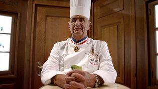 Le chef Paul Bocuse le 24 janvier 2007, lors du concours du Bocuse d'Or. (JEFF PACHOUD / AFP)