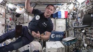 L'astronaute français Thomas Pesquet dans la Station spatiale internationale, le 3 septembre 2021. (EUROPEAN SPACE AGENCY / AFP)