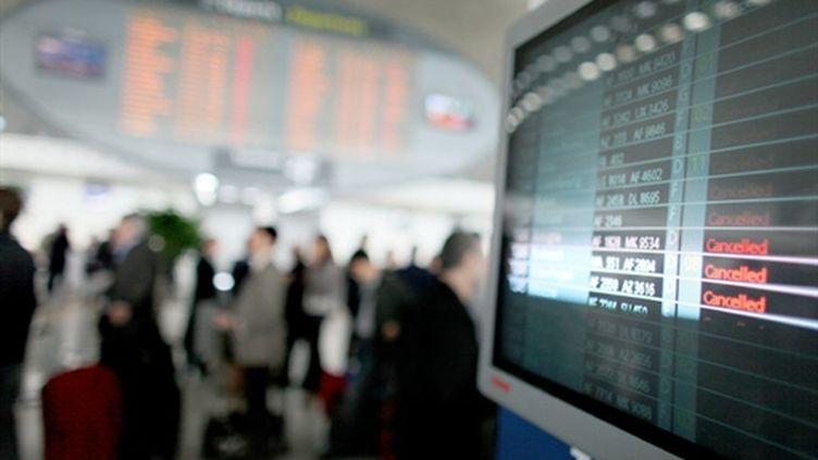A l'aéroport de Roissy, les voyageurs doivent prendre leur mal en patience (AFP - THOMAS COEX)