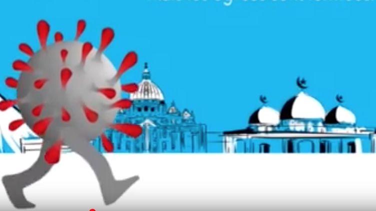 """Capture d'écran du clip """"Alerte Corona"""" de l'atiste burkinabè Smarty pour alerter contre le virus (UNICEF)"""
