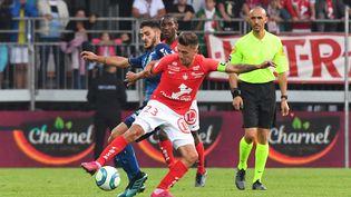 Le Stade Brestois recevait le Stade de Reims samedi 24 août 2019, pour le compte de la 3e journée de Ligue 1. (NICOLAS CR?ACH / MAXPPP)