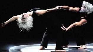 """Marie-Claude Pietragalle et Julien Derouault dans leur duo de """"M. et Mme Rêve""""  (PHILIPPE HUGUEN / AFP)"""