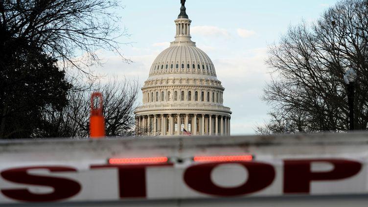 """Le Capitole à Washington (Etats-Unis), le 22 décembre 2018, à l'entrée en vigueur du troisième """"shutdown"""" sous le mandat de Donald Trump. (JOSHUA ROBERTS / REUTERS)"""