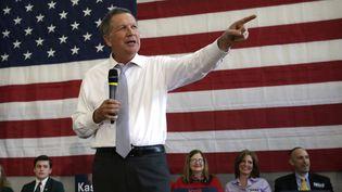 John Kasich lors d'un meeting à Rockville, dans le Maryland (Etats-Unis). (YURI GRIPAS / AFP)