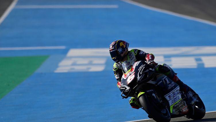 Le Français Johann Zarco au guidon de sa Ducati (JAVIER SORIANO / AFP)